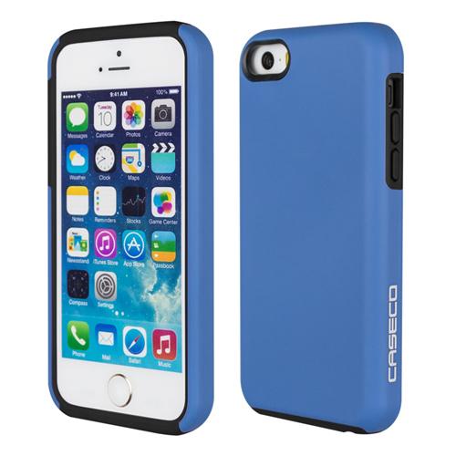 Caseco iPhone SE/5S/5C Flux Hybrid Custom Case - Blue/Black