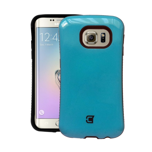 Dual Layer Hybrid Military Graded Shock Express Case with Raised Lip - Samsung Galaxy Edge 6S Plus - Blue
