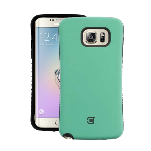 Dual Layer Hybrid Military Graded Shock Express Case with Raised Lip - Samsung Galaxy Edge 6S Plus - Green