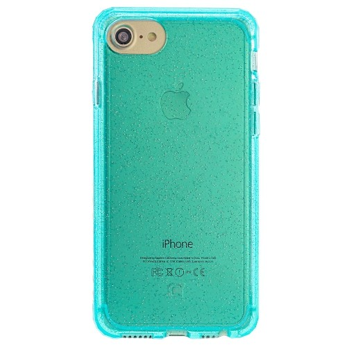 Caseco iPhone 6/6S Clear Glitter Glam Impact Resistant Case - Teal