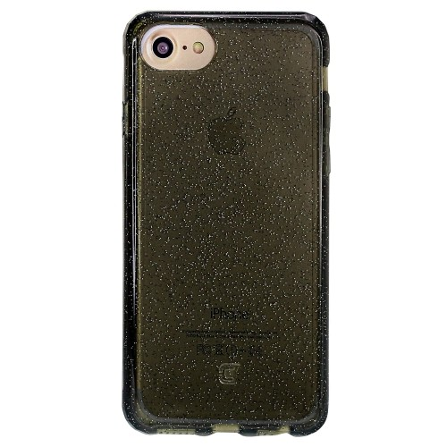 Caseco iPhone 6/6S Clear Glitter Glam Impact Resistant Case - Black