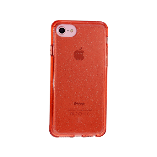 Caseco iPhone 6/6S Clear Glitter Glam Impact Resistant Case - Rose Gold
