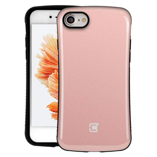 Caseco Shockproof Armor Hybrid Rubberized grip Case for iPhone 7 - Rose Gold