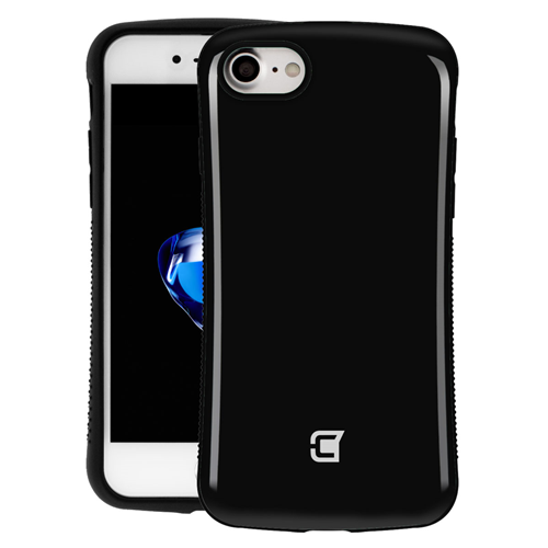 Caseco Shockproof Armor Hybrid Rubberized grip Case for iPhone 7 - Jet Black