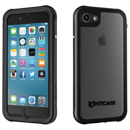 Étui rigide ajusté de Hitcase pour iPhone 7 ou 8 - Noir