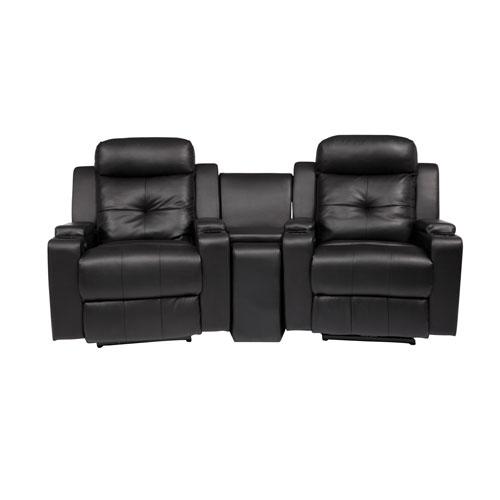 2 fauteuils inclinables lectriques cuir reconstitu et console broadway pour cin ma maison. Black Bedroom Furniture Sets. Home Design Ideas