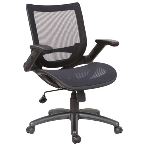 tygerclaw ergonomic mid back mesh task chair black office chairs