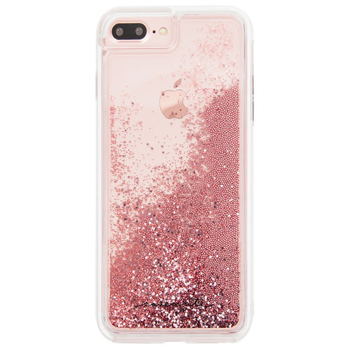 Étui rigide ajusté Waterfall de Case-Mate pour iPhone 7 ou 8 Plus - Rose doré