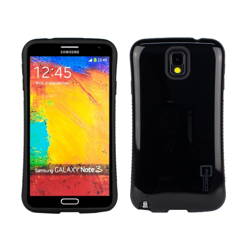 Dual Layer Hybrid Military Graded Shock Express Case with Raised Lip - Samsung Galaxy Note 3 - Black