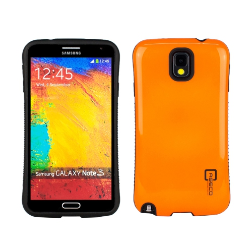 Dual Layer Hybrid Military Graded Shock Express Case with Raised Lip - Samsung Galaxy Note 3 - Orange