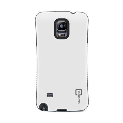 Dual Layer Hybrid Military Graded Shock Express Case with Raised Lip - Samsung Galaxy Note 4 - White