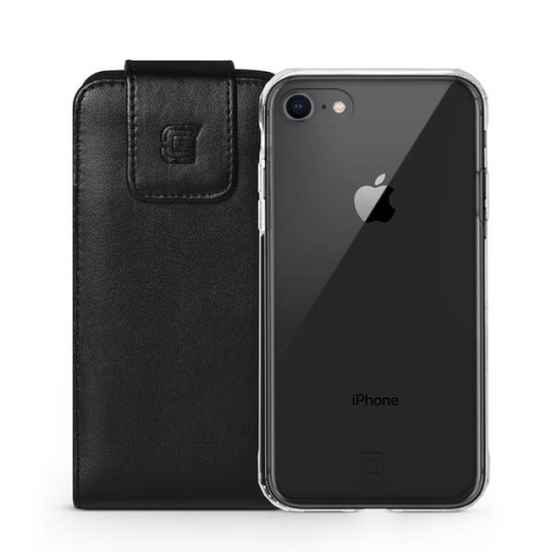 Caseco iPhone 7/6S Large Faux Leather Vertical Pouch 360 Belt Clip