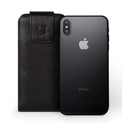 Caseco iPhone 7/6S Extra Large Faux Leather Vertical Pouch Belt Clip