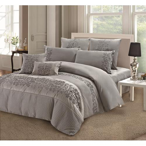 Oxley Silver 7-Piece Duvet Cover Set