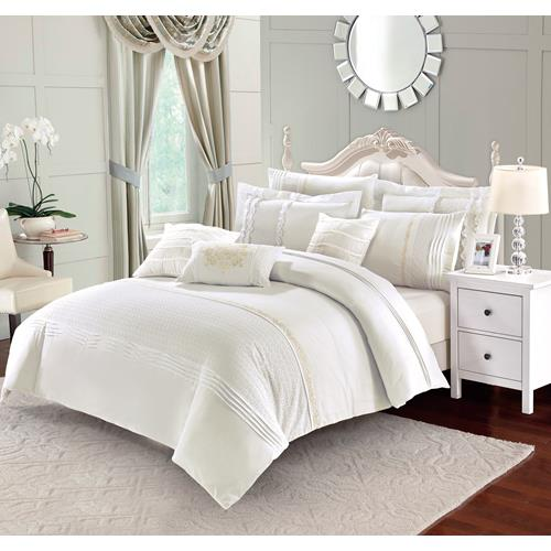 Eleonora Ivory 7-Piece Duvet Cover Set