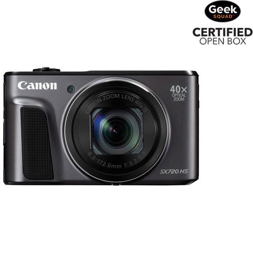 PowerShot SX720 HS Wi-Fi 20.3MP 40x Optical Zoom Digital Camera - Black - Open Box