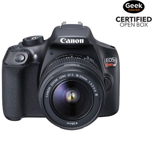 Canon Eos Rebel T6 Dslr Camera With Ef S 18 55mm F35 56 Dc Iii