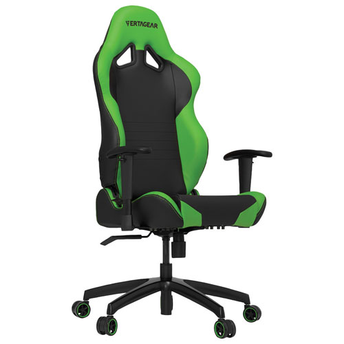 Vertagear S-Line Faux Leather Gaming Chair - Black/Green