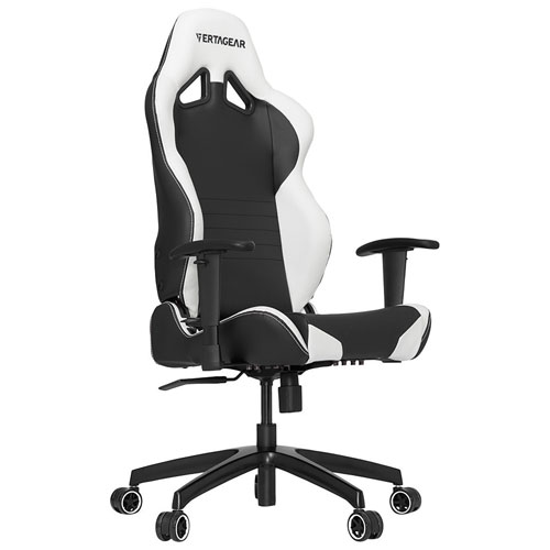 Vertagear S-Line Ergonomic Faux Leather Racing Gaming Chair - Black/White