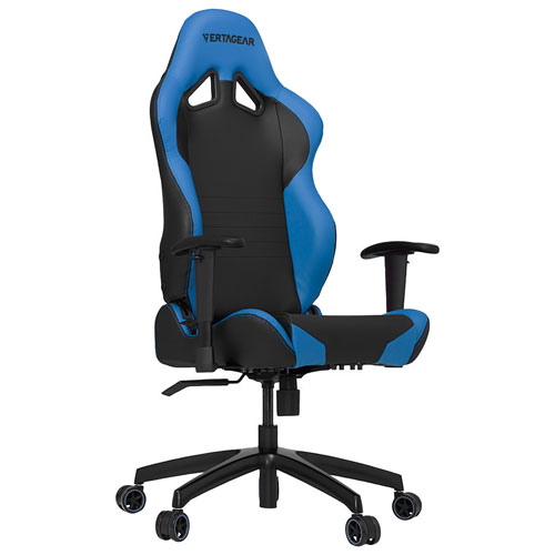 Vertagear S-Line Ergonomic Faux Leather Racing Gaming Chair - Black/Blue