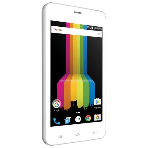 Téléphone intelligent de 8 Go LINK A400 de Polaroid - Blanc - Déverrouillé