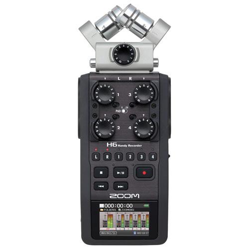 Enregistreur audio numérique à six pistes H6 de Zoom (ZOOM -ZH6)