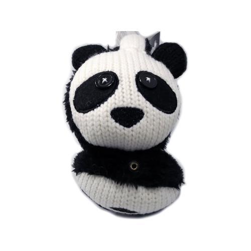Music Muffs Panda Design Music Earmuffs, built in Headphones, Black
