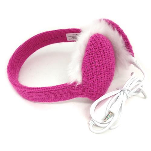 Chatties Earmuffs w/ Built-in Headphones, Pink