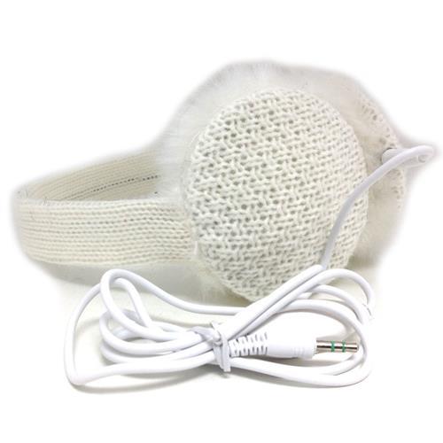 Chatties Earmuffs w/ Built-in Headphones, White