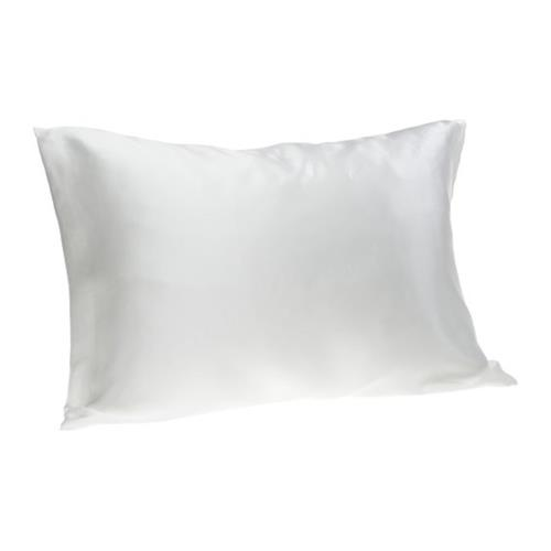 Hotel by Domay Satin Pillow Case Queen, White 2-Pack