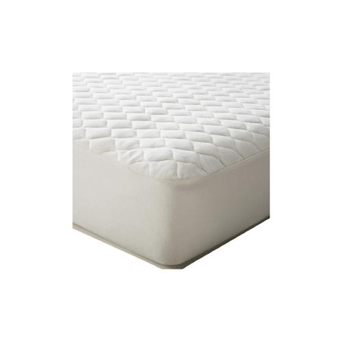 Domay Quilted Mattress Cover Deluxe 100% polyester w/ Microfiber top - Twin