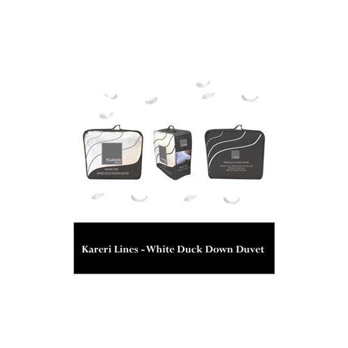 Kareri Linens White Duck Down Duvet 100% Cotton - King