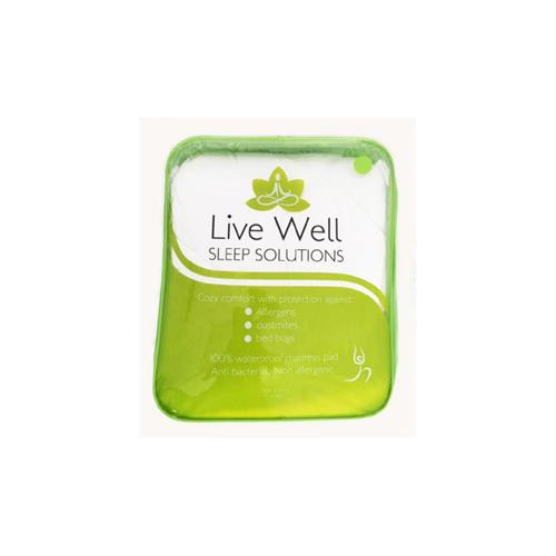 Live Well Allergy Protection Mattress Pad - 100% Waterproof, Double
