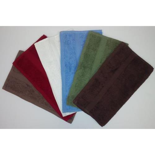 "Washcloth 100% Cotton 13""x13"" - Red 3/PK"
