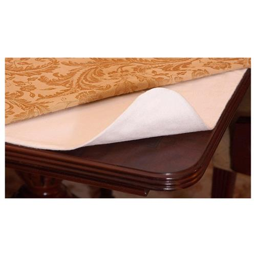 "Schonfeld Hotel Premium Quilted Tablepad 52""x90"" Cut to custom fit any table size"