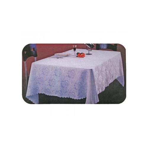 """Nusso Celebrity Damask Tablecloth 60""""x144"""" - White"""