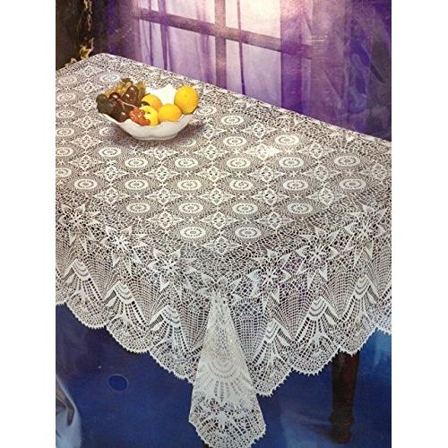 """Nusso Nappe Crochet Tablecloth 60""""x104"""" - White"""