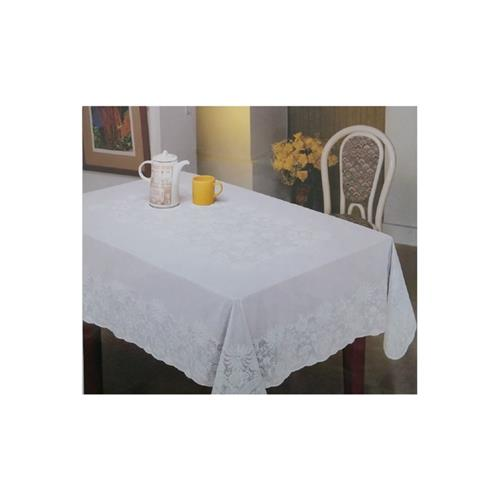 """Nusso Nappe Embossed Tablecloth 60""""X90"""" - White"""