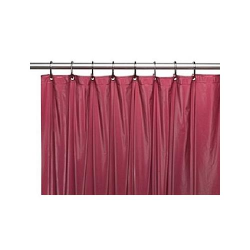 Sheer Grommet Shower Curtain - Burgundy