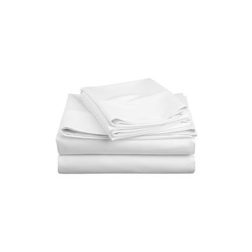 Royale Elegance 100% peign� coton pima Sheet Set , 320 threadcount , King, Blanc