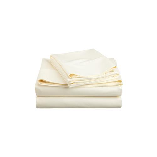 Royale Elegance 100% peign� coton pima Sheet Set , 320 threadcount , Roi, Ivoire