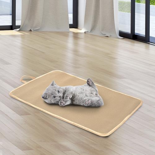 PawHut Pet Mat Touch Sleep Pad Dog Cat Bed Cushion, Beige (Big)
