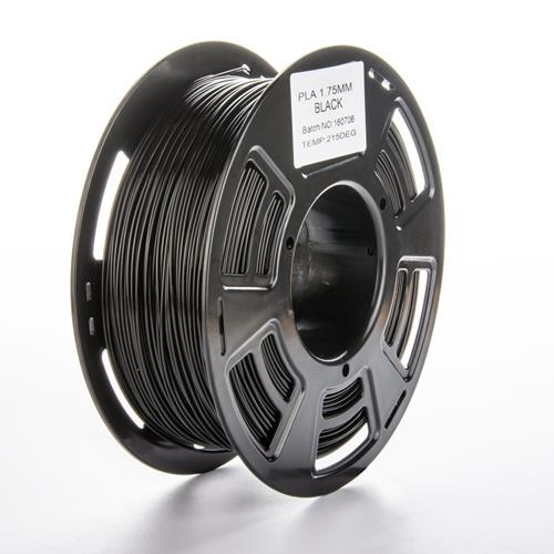 NEXTPAGE High Glossy PLA 1.75mm 1KG 3D Printer Filament Dimensional Accuracy +/- 0.05mm, 2.2LBS Spool Black