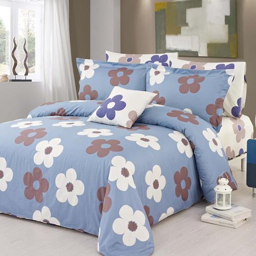 North Home Isabelle 100% Cotton 4 PC Duvet Cover Set(Twin)