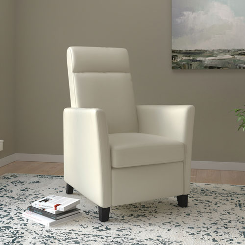 fauteuil inclinable contemporain en cuir reconstitu elise blanc fauteuils inclinables. Black Bedroom Furniture Sets. Home Design Ideas