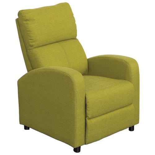 Moor Contemporary Fabric Recliner - Green