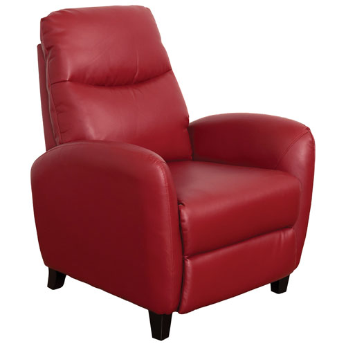 Ava Contemporary Bonded Leather Recliner - Red
