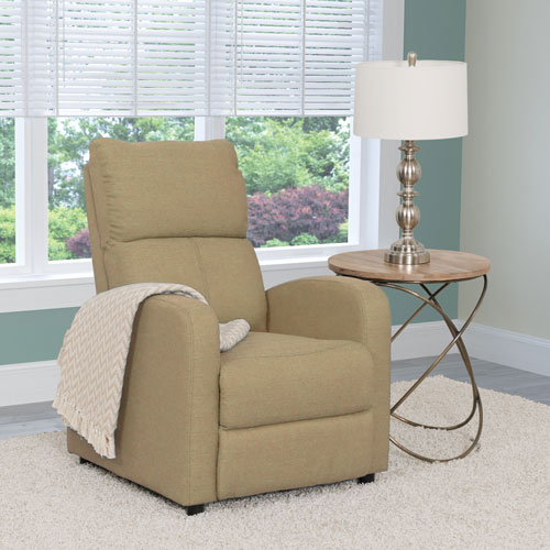 Moor Contemporary Fabric Recliner - Beige
