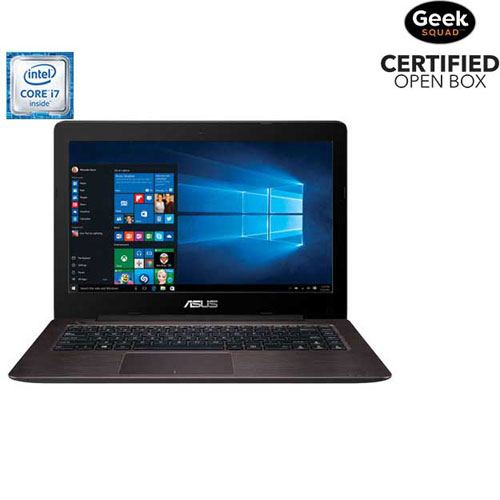 """ASUS X456UV 14"""" Laptop - Dark Brown (Intel Dual-Core i7-6500U/1TB HDD/12GB RAM/Windows 10)- Open Box"""