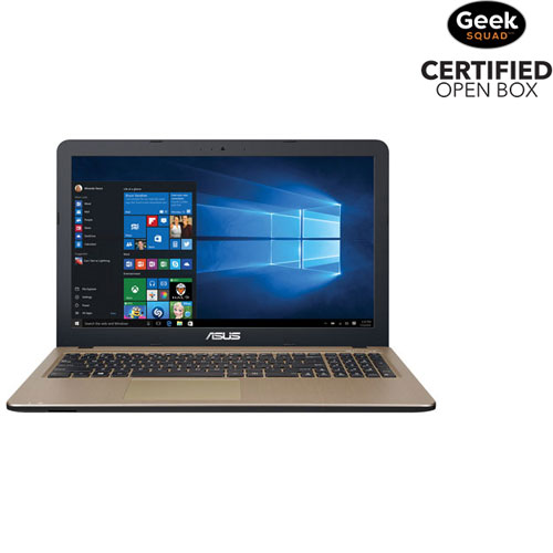 "ASUS 15.6"" Laptop - Black/Gold (Intel Core i7-5500U/1TB HDD/8GB RAM/Windows 10) - Open Box"